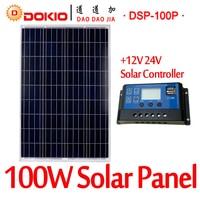 DOKIO Brand 100W 18 Volt Solar Panel China 10A 12 24 Volt Controller 100 Watt Solar