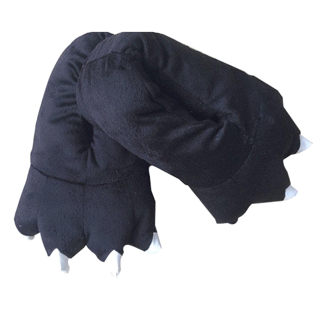 ABDB black Slippers winter animals fancy plush claw slippers abdb black slippers winter animals fancy plush claw slippers