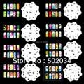 Beautiful Design Airbrush Nail Art Paint Stencil Kit Design Set MJ-010 Free Shipping