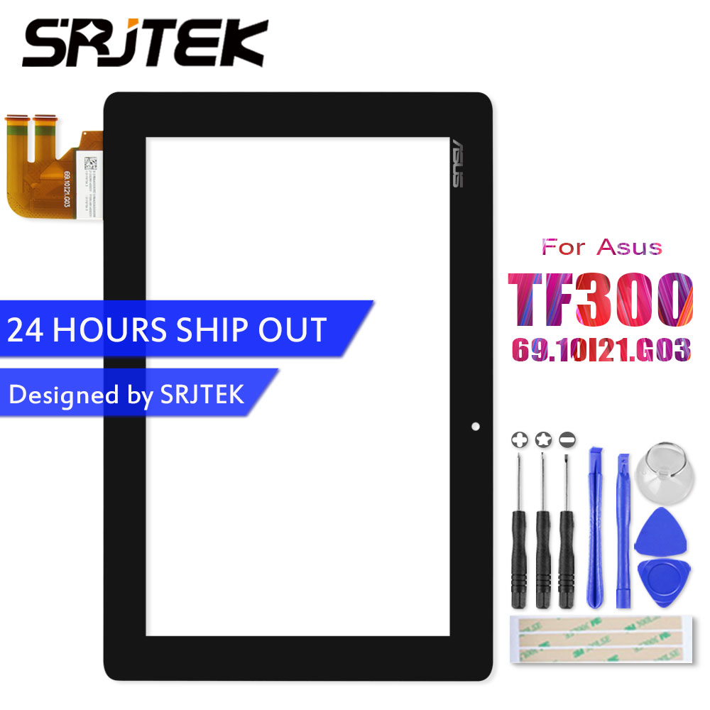For Asus Transformer Pad TF300 TF300T TF300TG TF300TL 69.10I21.G03 Touch Screen Panel Digitizer Glass Sensor TF300T G03 Version tf300 g01 replacement tablet touch screen panel digitizer for asus eeepad transformer tf300 tf300t version g01 69 10i21 g01