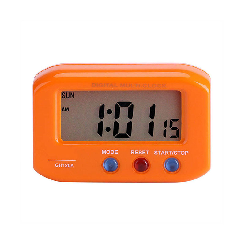 Portable Small LCD Digital Time /& Date Alarm Clock Night Light  Room Clocks