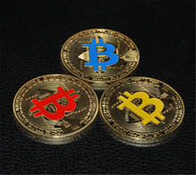 New style hot-sale Gold Plated Bitcoin Coin Collectible Art Collection Gift