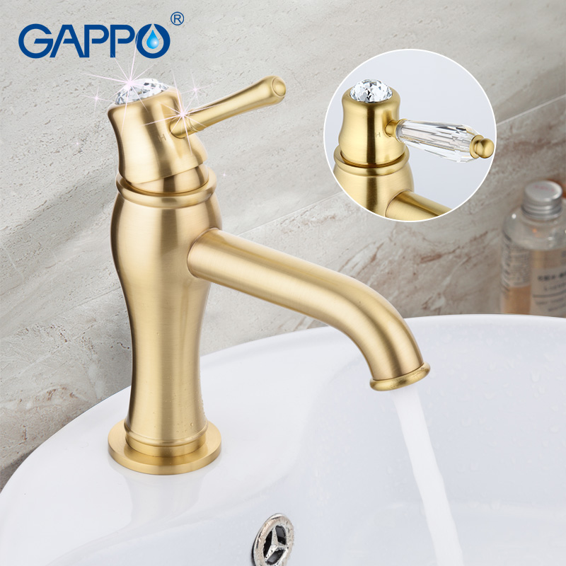 GAPPO crystal water faucet basin sink faucet deck mounted Bathroom Faucet mixer tap waterfall tap torneira grifo GA1097-4 тарелка обеденная outwell bamboo dinner plate casablanca white 650515