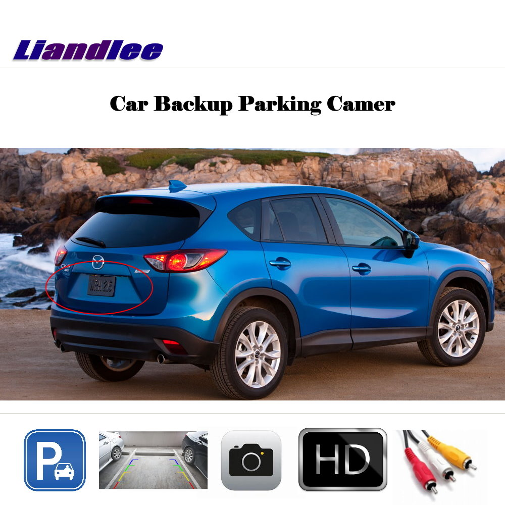 Liandlee Auto Reverse Parking Camera For Mazda CX 5 CX5 2013 2014 Rear Rearview Camera Back Work with Car Factory Screen in Vehicle Camera from Automobiles Motorcycles
