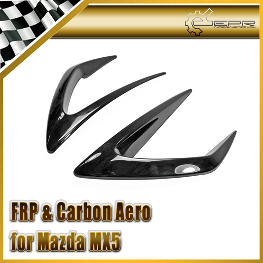 Car-styling FRP Fiberglass Front Bumper Duct Cover Fiber Glass Air Surround Body Kit Fit For Mazda MX5 ND5RC Miata Roadster SBLZ frp fiber glass car styling hood bonnet lip chin valance fin add on tuning parts for nissan skyline r32 gtr gts