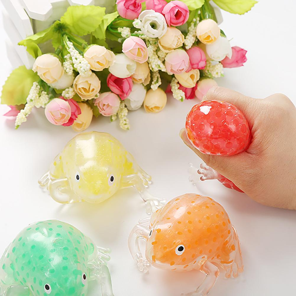 Solid Color Mini Frog Water Bead Squishies Filled Squeeze Toy Antistress Spiky Ball Fidget Sensory Kids Adults Toys For Children