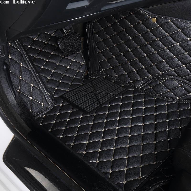 car believe auto car floor mat for renault fluence kadjar captur scenic 3 laguna 3 logan sandero waterproof car accessories