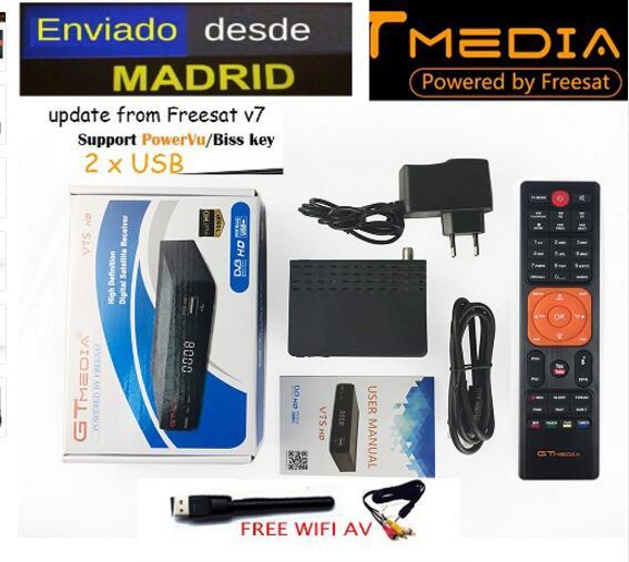 Freesat v7s/GTMEDIA V7S HD DVB S2 HD récepteur Satellite prise en charge PowerVu Biss clé Ccamd youporno gratuit sat v7 wifi av en option-in Récepteur de télévision par satellite from Electronique    1