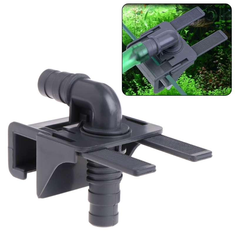 Aquarium Water Pipe Connector Fish Tank Mount Holder Inflow Outflow Stretchable