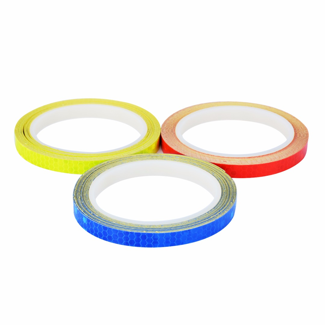 1PC 8 Meter Car Styling Reflective Stripe Tape Motorcycle Bike Body Rim Wheel Stripe Tape Sticker Decorative Blue/Red/Yellow