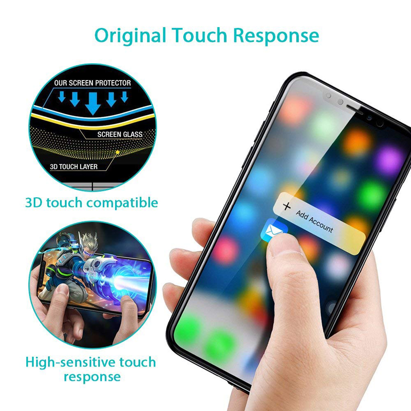 0 23MM 3D Screen Protector Tempered Glass For iPhone X 10 Soft PET Edge Full Cover Toughened Protective Glass Film For iPhoneX in Phone Screen Protectors from Cellphones Telecommunications