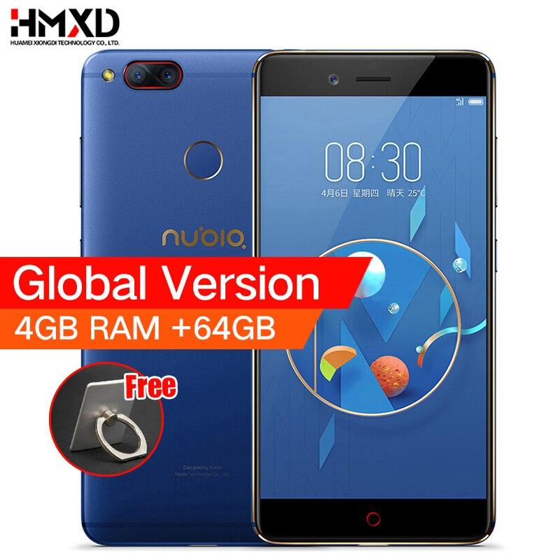 ZTE Nubia Z17 Mini Dual Zurück Kamera Smartphone 4 gb/6 gb RAM 64 gb ROM 5,2 inch Snapdragon 652 MSM8976 Dual SIM Karten Handy