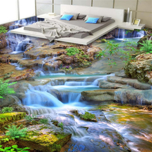 beibehang  Custom fashion pvc classic wallpaper plant flower green grass meadow 3D floor painting wall papers home decor behang