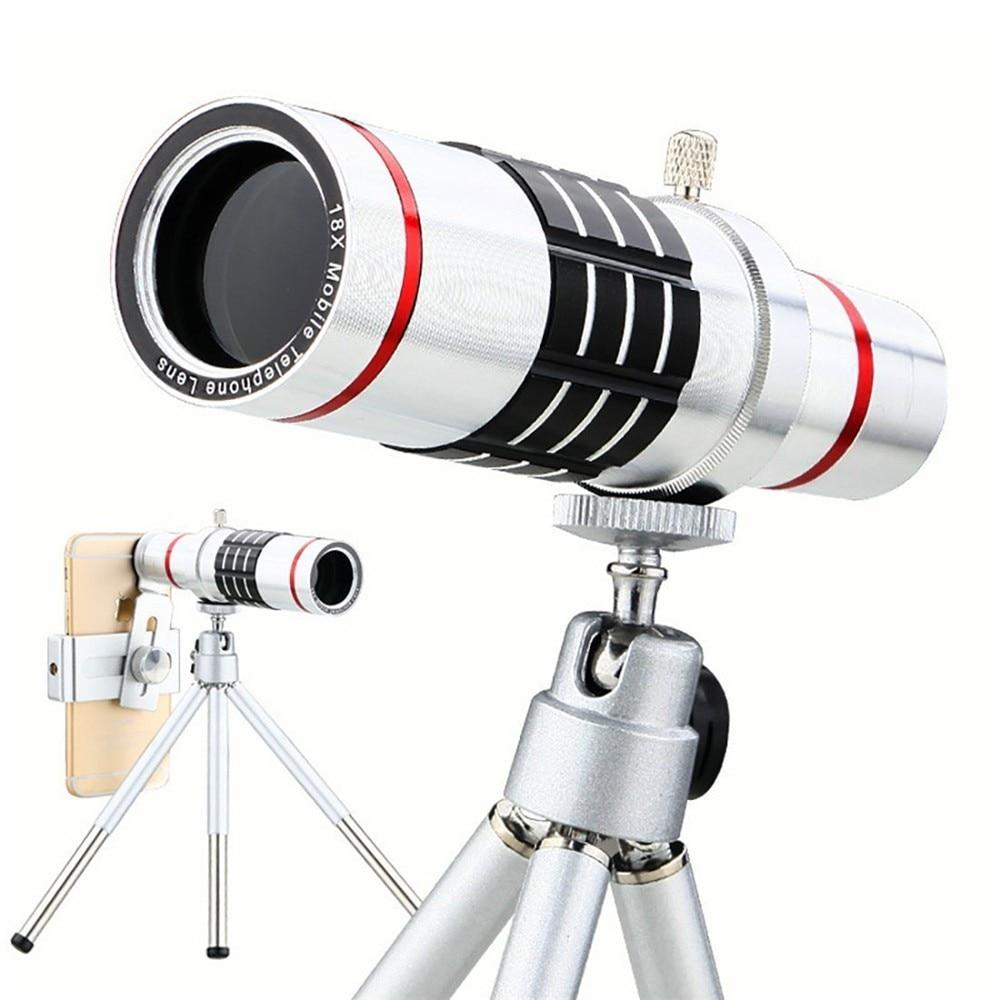 KRY 18x lentes Universal Zoom Camera Phone Lens Optical Telescope Telephoto Lenses Tripod For iPhone 5s lens 6 6s 7 Plus Lens 3