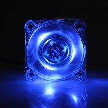Gdstime 1 шт. прозрачный синий мини 40 мм светодиодный 4010 12 В 3Pin вентилятор для корпуса компьютера DC Бесщеточный Охлаждающий вентилятор 40x40x10 мм высокоскоростной