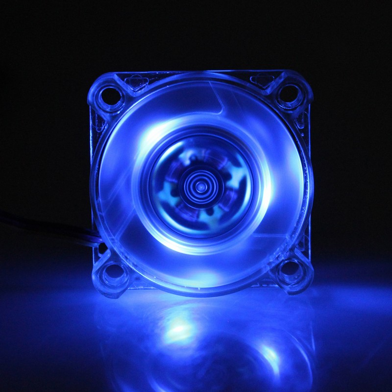Gdstime 1 Pcs Transparent Blue Mini 40mm LED 4010 12V 3Pin Computer Case Cooler DC Brushless Cooling Fan 40x40x10mm High Speed gdstime 2 pcs 4010 12v 40x40x10mm brushless dc fan 40mm pc computer case cooling fan 2 0 2 pin cooler 4cm 9 blades