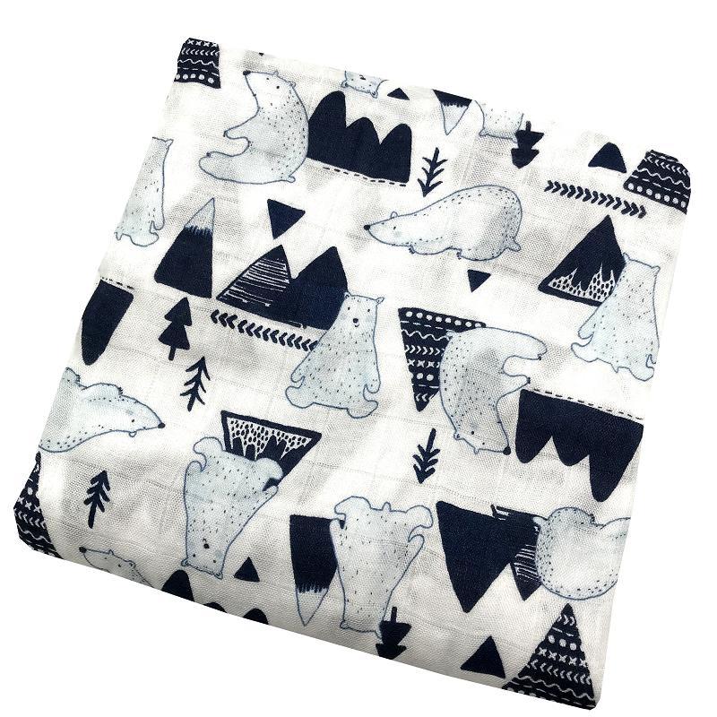 Bamboo Muslin Swaddle Blanket Newborn Soft Swaddle Wrap Baby Bedding Bath Towel