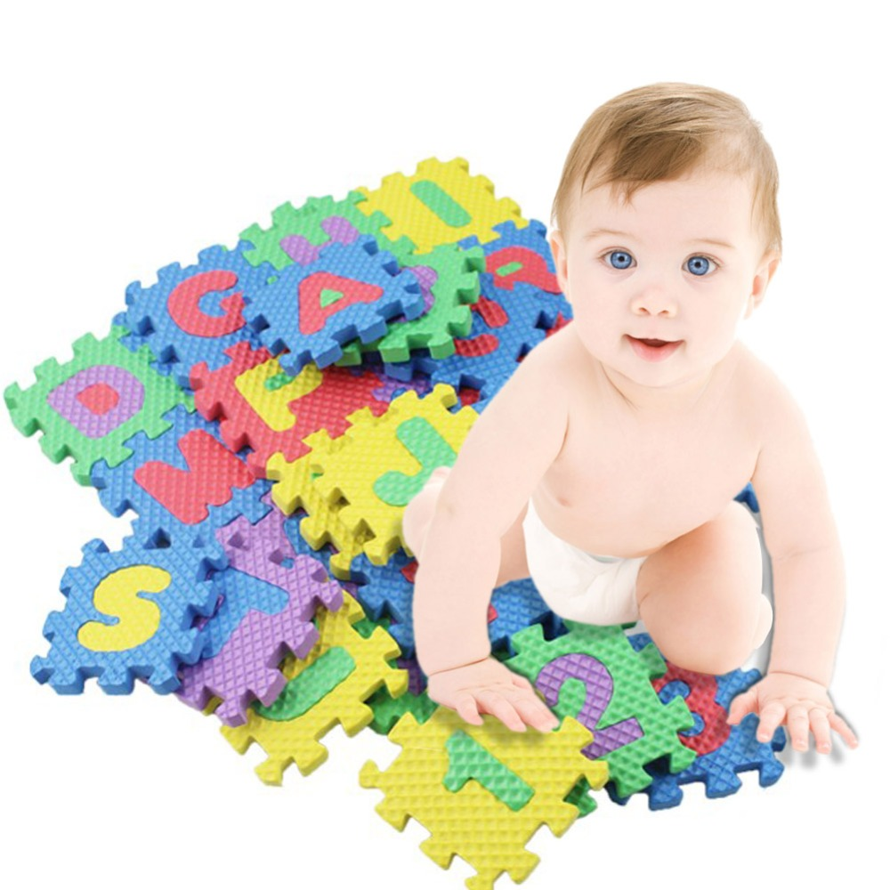 Baby Play Mats Alphabet Numerals Baby Kids Play Mat Math Educational Puzzles Toy Child Soft Foam Mini Gaming Mats Gift 36pcs/Set