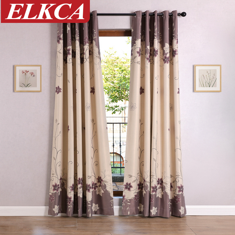 lily floral printed blackout curtains for living room window curtains for the bedroom modern curtains for kids custom made