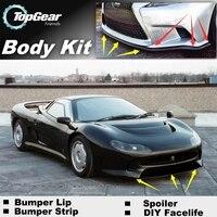 Bumper Lip Deflector Lips For Jaguar XJ220 Front Spoiler Skirt For TG Friends to Car View Tuning / Body Kit / Strip