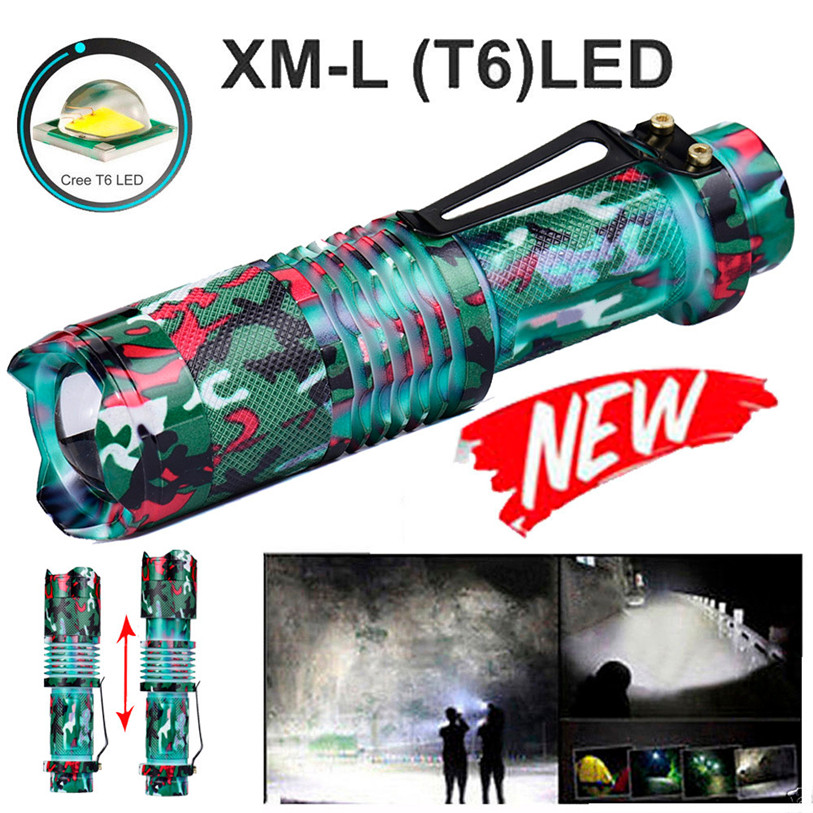 New Zoomable T6 LED 5 Modes Flashlight Torch Zoom Lamp Outdoor Light Outdoor Sports Cycling Accessories High Quality Apr 5