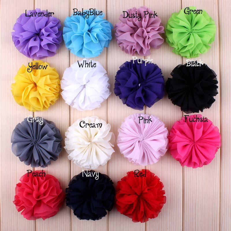 Wholesale 20Pcs/Set Handmade DIA 6.5Cm Chiffon Flower Artificial Flower Wedding Boutonniere DIY Flowers Hair Accessoires