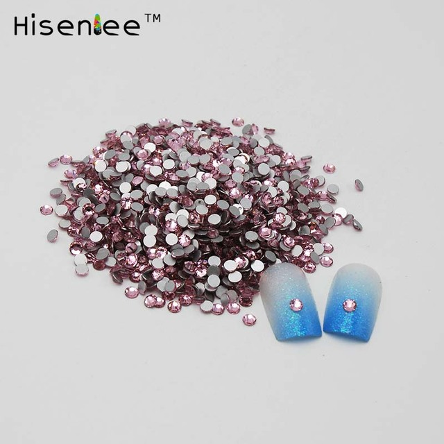 Light Pink Color Glass Crystal Sale SS12 3mm Nail Art Rhinestones ...