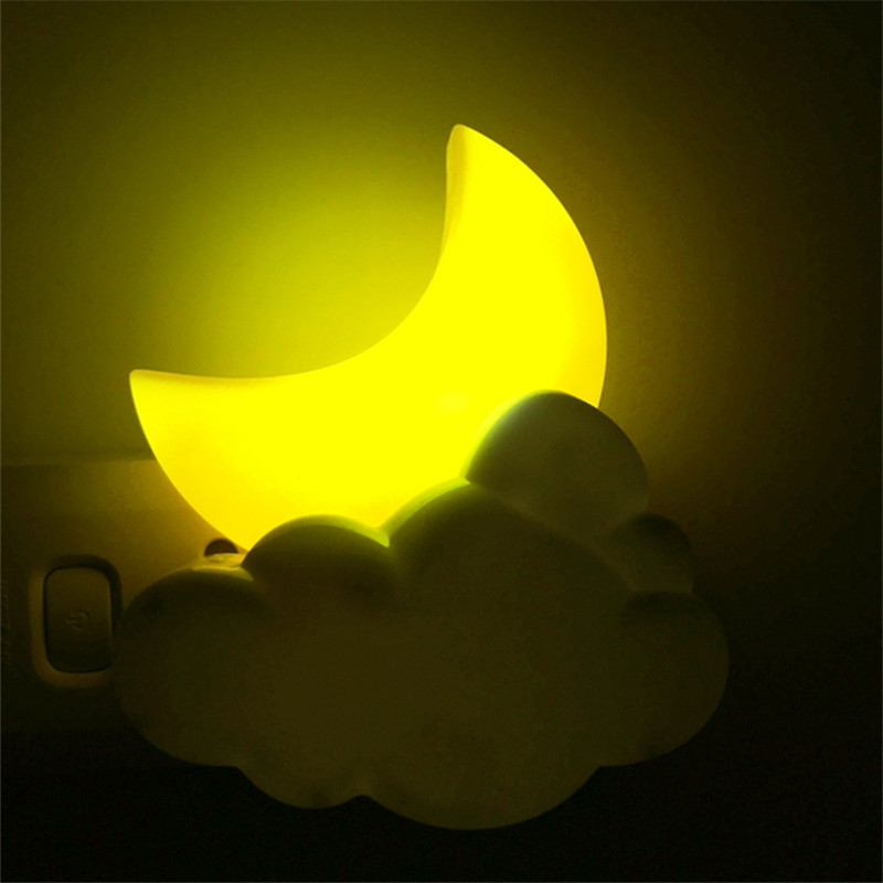 LED Moon Night Light Intelligent Light Control Po Mother Children Baby Automatic Sensor Lamp For Home Bedroom Corridor Stairs
