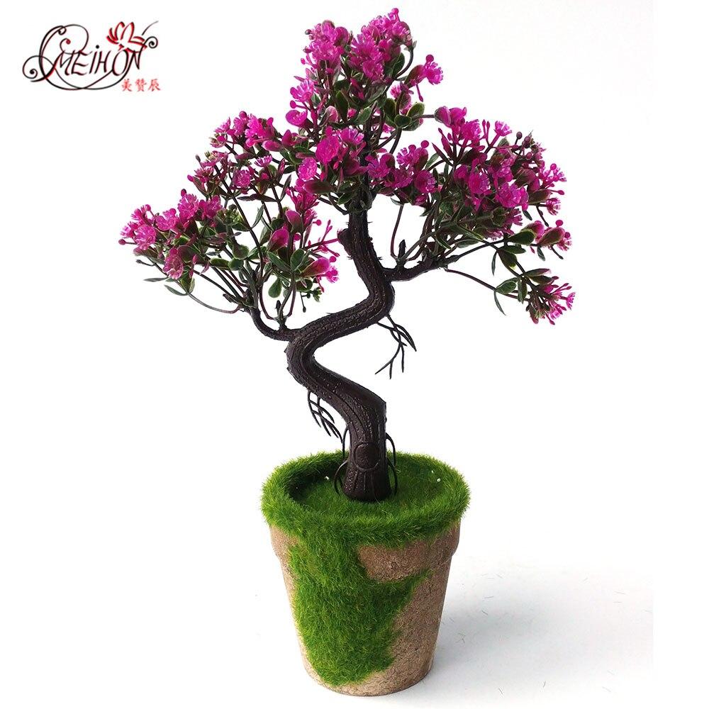 Artificial Bonsai Plant Pine Trees Wedding Flowers Plastic Flower