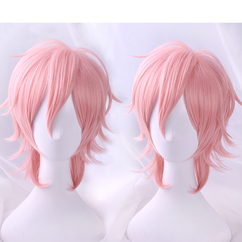2018 Anime Cosplay Yarichin Bitch Bu Club Ayato Yuri Pink Wig Cosplay Halloween  Role Playing-in Anime Costumes from Novelty & Special Use