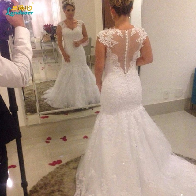 Vestido De Novia Court Train Mermaid Wedding Dresses Unique Heart