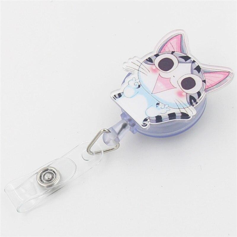 1pcs Cartoon Kawaii Chis Cat Retractable Badge Reel Student Nurse ...
