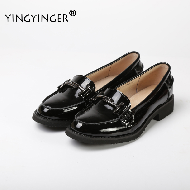 YINGYINGER Women's Flats Shoes Custom-made Genuine Leather Slip On Women Loafers Oxfords Flats Shoes Handmade Shoes For Women goodster calfskin leather custom handmade shoes men leather shoes delicate korean custom shoes black men oxfords shoes