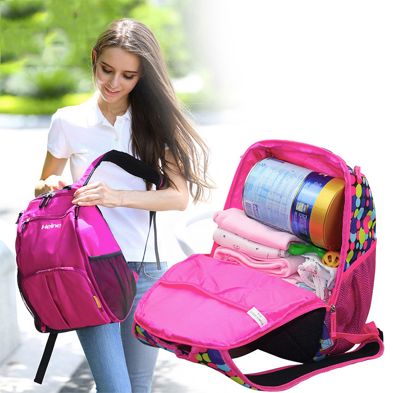 Baby Diaper Nappy Bag Big Capacity Mummy Package Multifunction Shoulder Backpack Nappy Changing Storage Diaper Bags Baby Large цена