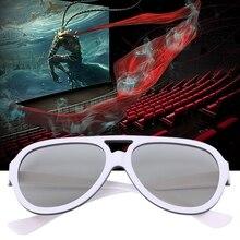 Универсальные круглые Пассивные Поляризационные 3D очки для ТВ реального 3D кино 0,42 мм