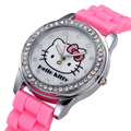 Top Quality Cute Hello Kitty Watch For Kids Women Fashion Casual Wristwatch Children Watch Clock Relogio