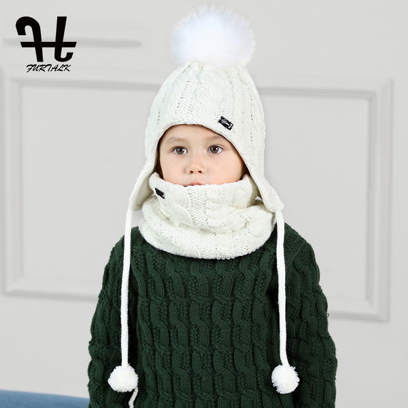 FURTALK niños sombrero y bufanda Set para niñas y niños sombreros de ...