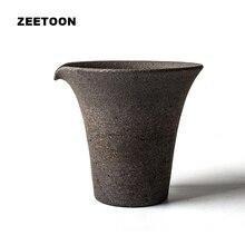 Juego de té Zen japonés Vintage de cerámica gruesa, juego de té Kung Fu, Puer taza de té, Té Cha Hai Master, tazas de té, decoración creativa del hogar