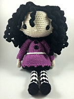 Amigurumi Doll Crochet girl toy rattle