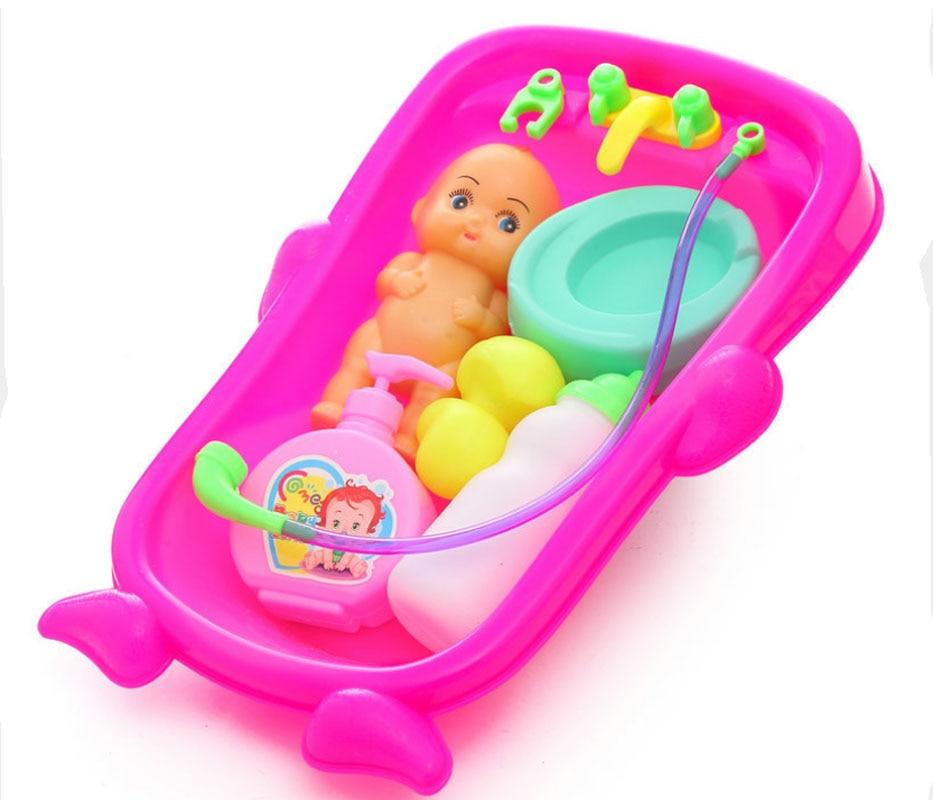Baby Kids Bath Toys Simulation Baby Bathtub Toys Set Water Floating ...