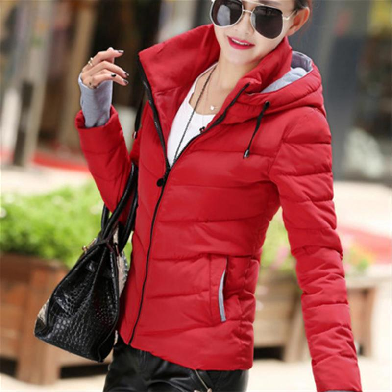 2017 Women Fashion Winter Cotton clothing Plus Size Solid Hooded Thicken Jacket Padded Female Slim Short Jacket Parkas Coats new parkas jacket 2017 women autumn winter short coats solid hooded cotton padded warm pockets female jacket plus size coats