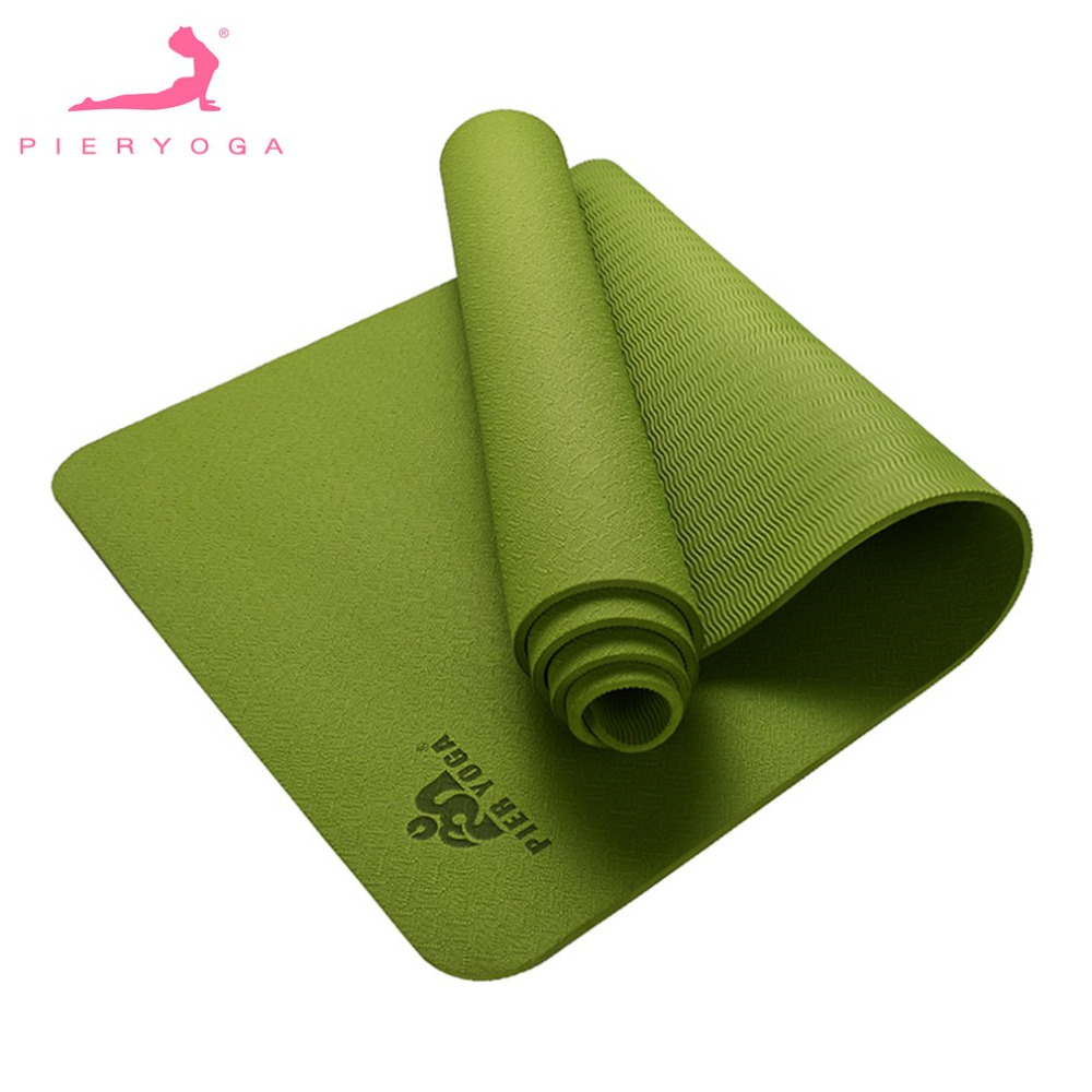 pieryoga yoga mat for beginners anti slip sport mat non slip fitness mat with yoga rope gym mat gymnastics mats