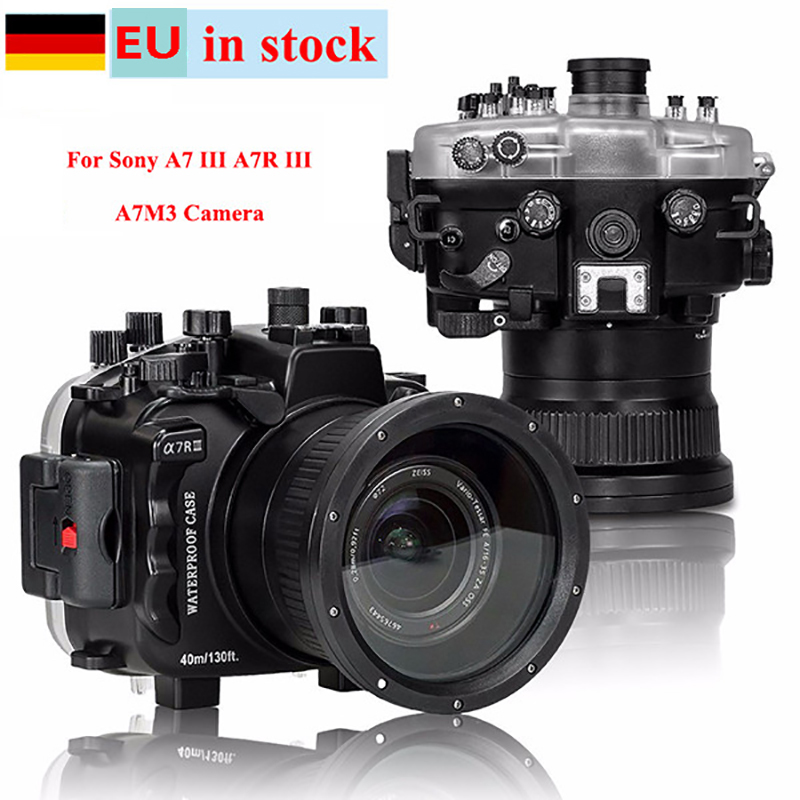 (EU Location) Seafrogs 40m/130ft Underwater Diving Camera Housing Case For Sony A7 III A7R III A7M3 A7M III Camera