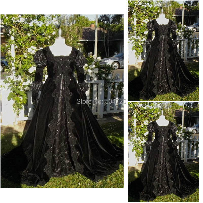 R-099 Victorian Gothic Civil War Southern Belle loose Ball Gown Dress  Halloween Vintage fc32a3ebf4b2