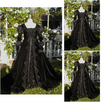 R 099 Victorian Gothic/Civil War Southern Belle loose Ball Gown Dress Halloween Vintage dresses Custom made