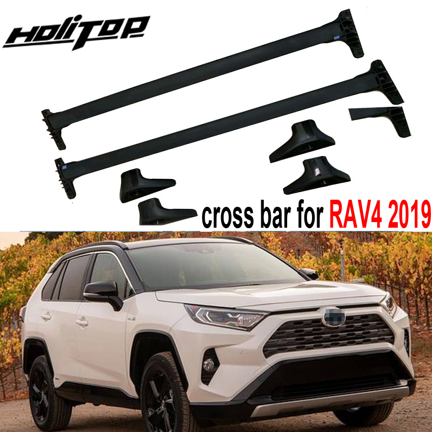 New arrival horizontal roof rack bar Transverse roof rail cross bar for Toyota RAV4 2019 aluminum