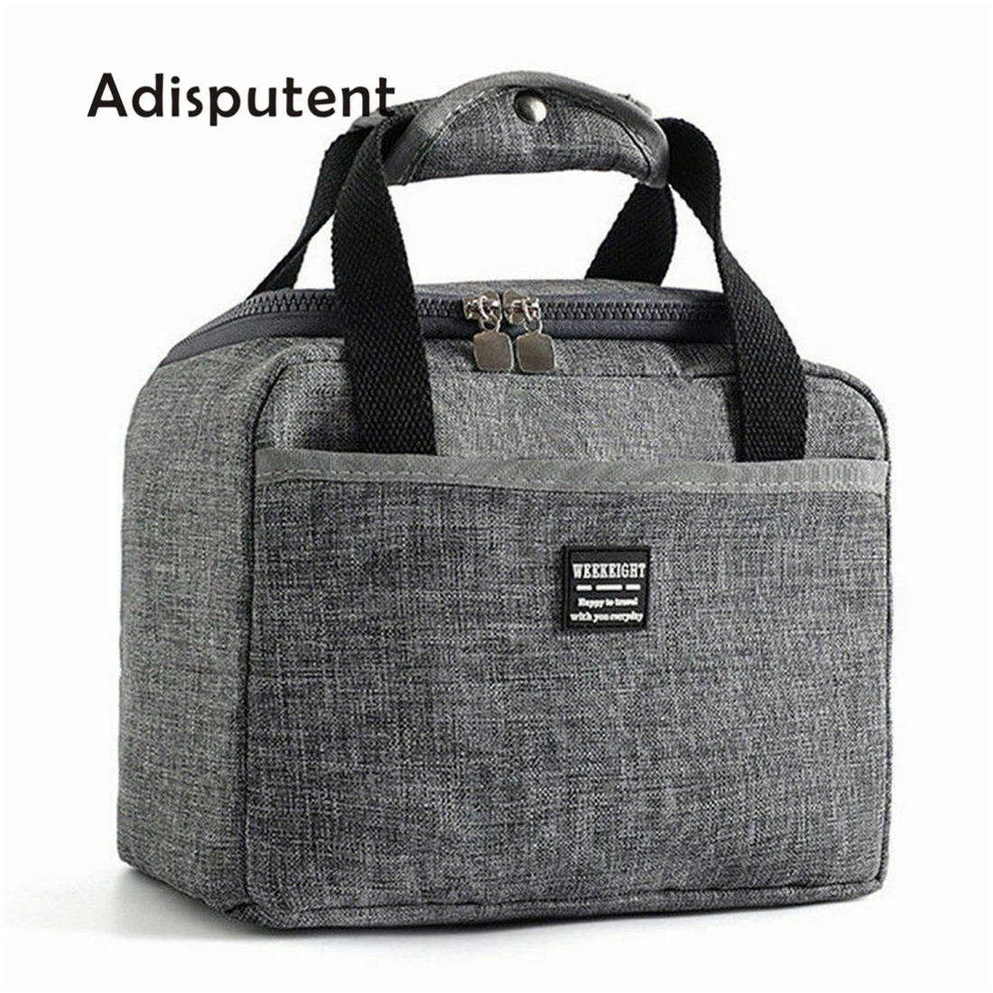 Adisputent Waterproof Insulated Lunch Bags Picnic Pouch Unisex Thermal Dinner Case Food Case Accessories