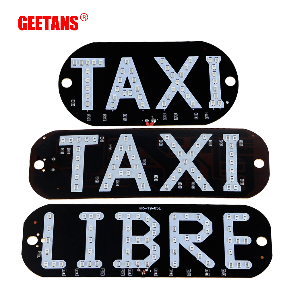 GEETANS 1pcs Taxi Libre Led License Plate Car light Windscreen Cab Indicator Inside Lamp Signal Lights Windshield Lamp 12V BE bijoy kumar nanda and ashirbad swain analysis of machine tool structure using rsm approach