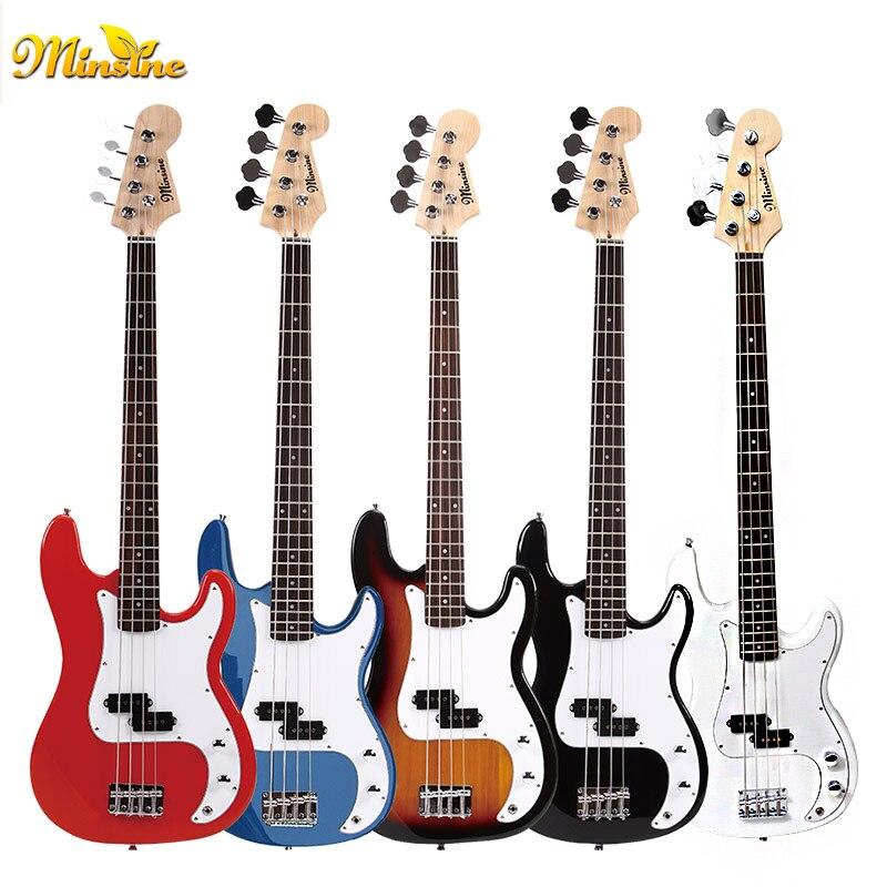 Minsine Chinois variété Électrique Basse Guitare 4 Cordes Palissandre Tilleul Érable Passive fermé ramassage Haute qualité B005