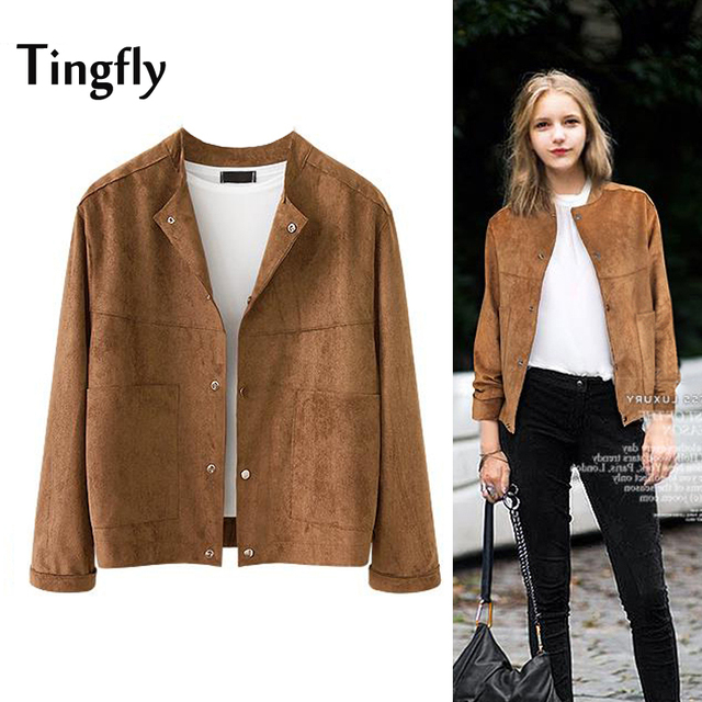 Women's camel suede jacket